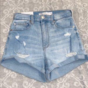Garage Light Wash Ultra High Rise Jean Shorts